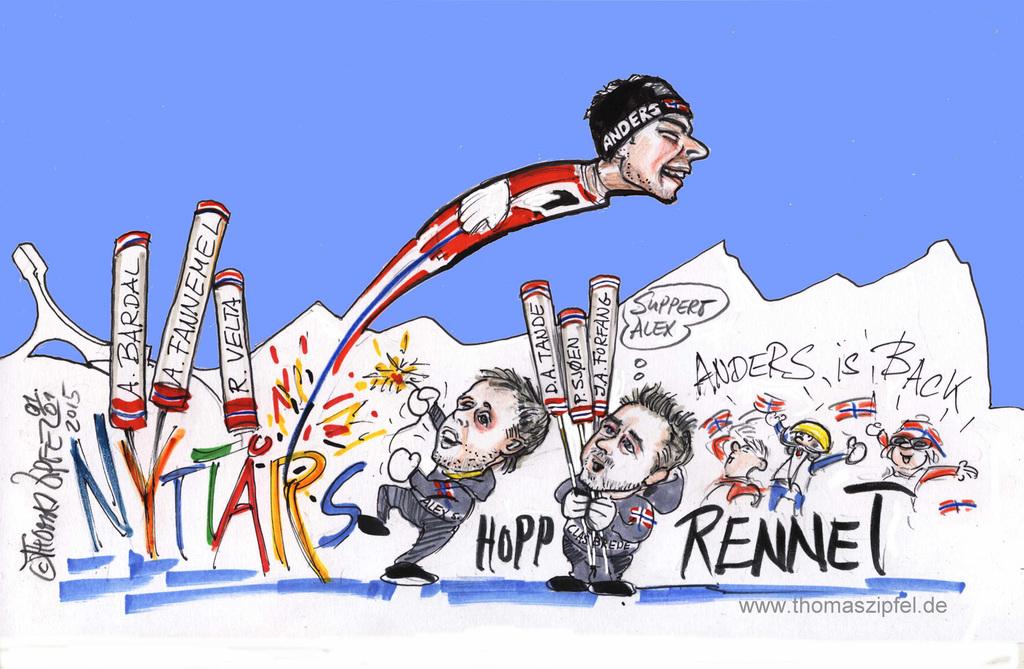 Alex Stöckel zündet die Rakete