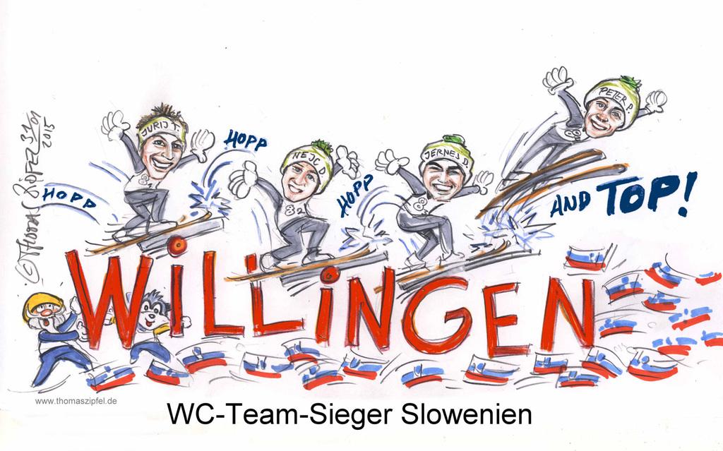 Slowenien gewinnt in Willingen