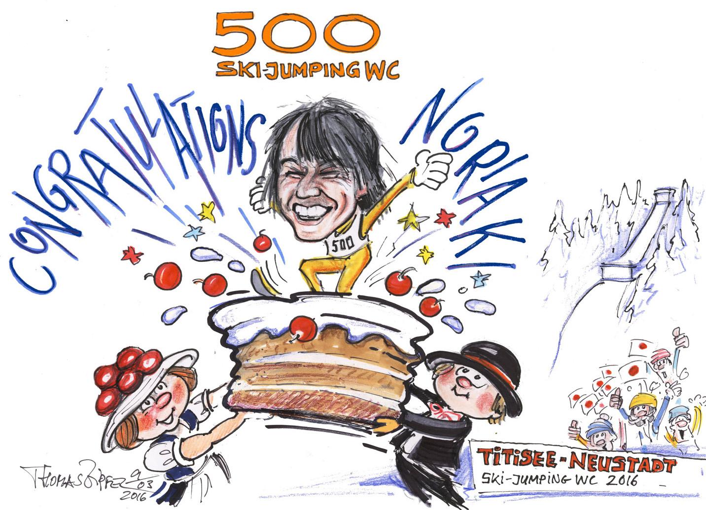 Noriaki Kasai 500