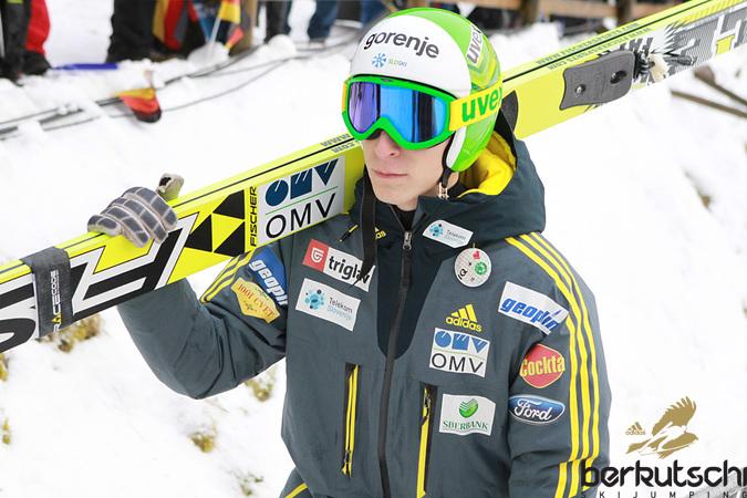 Jurij Tepes: Nach dem ersten Durchgang noch auf dem Podest, am Ende Platz 14