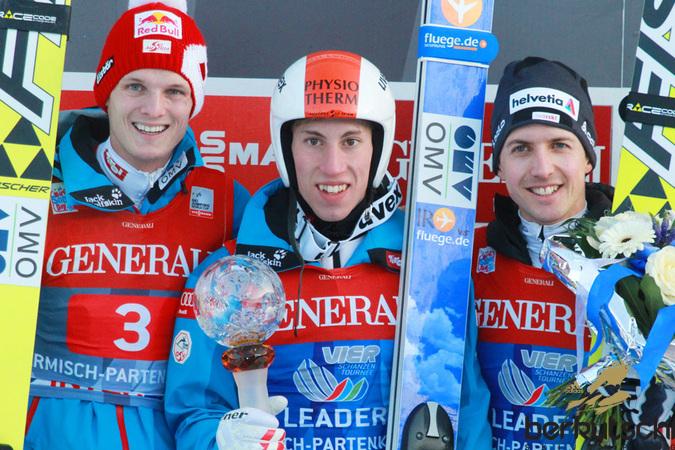 ... Thomas Morgenstern, Thomas Diethart und Simon Ammann