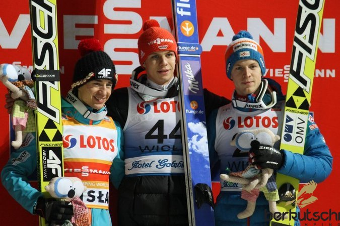 Top 3: Kamil Stoch, Andreas Wellinger, Michael Hayböck