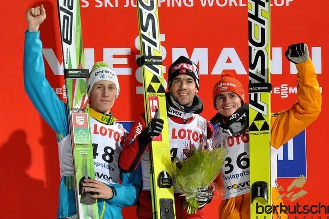 Top 3 nach nur einem Durchgang: Peter Prevc, Anders Bardal, Richard Freitag