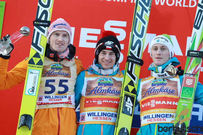 Top 3: Severin Freund, Kamil Stoch, Peter Prevc