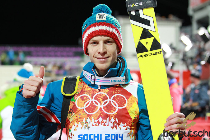 Michael Hayböck gewann auch die zweite Qualifikation bei diesen Winterspielen