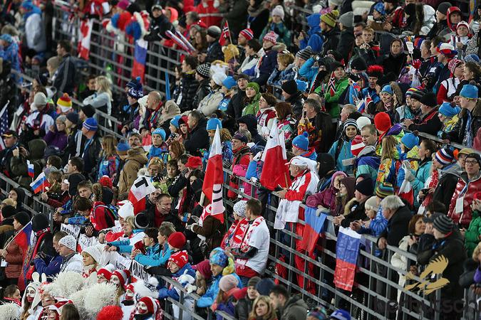 Fans aus vielen verschiedenen Ländern ...
