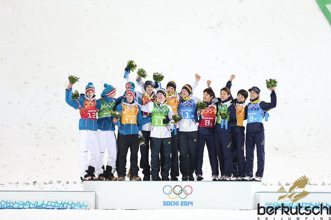 Schlussbild im RusSki Gorki Ski Jumping Center