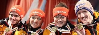Deutsches Mixed Team vorn