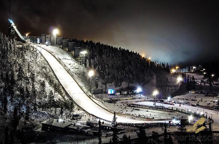 Schanze skispringen kuusamo ruka