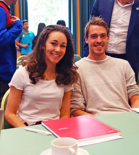 Sarah Hendrickson und Andreas Stjernen bei FIS Meetings