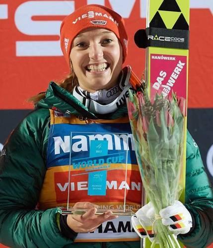 Katharina Althaus wygrywa w Lillehammer