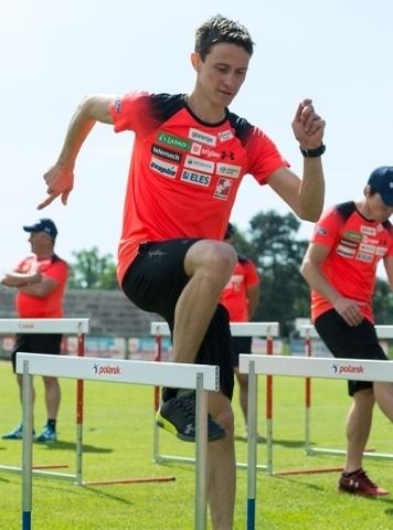 Команда Словении тренируется в Крани