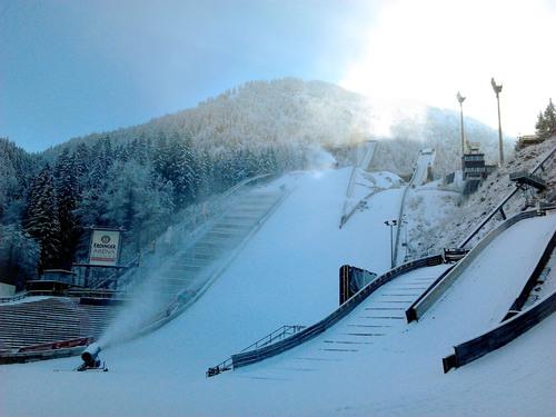 Oberstdorf produziert den ersten Tournee-Schnee