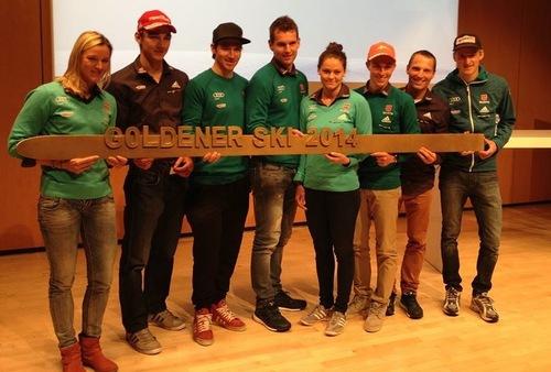 """""""Goldener Ski"""" für Severin Freund und Carina Vogt"""