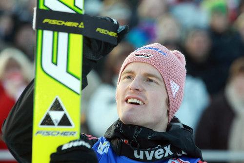 Werbung für das Skispringen