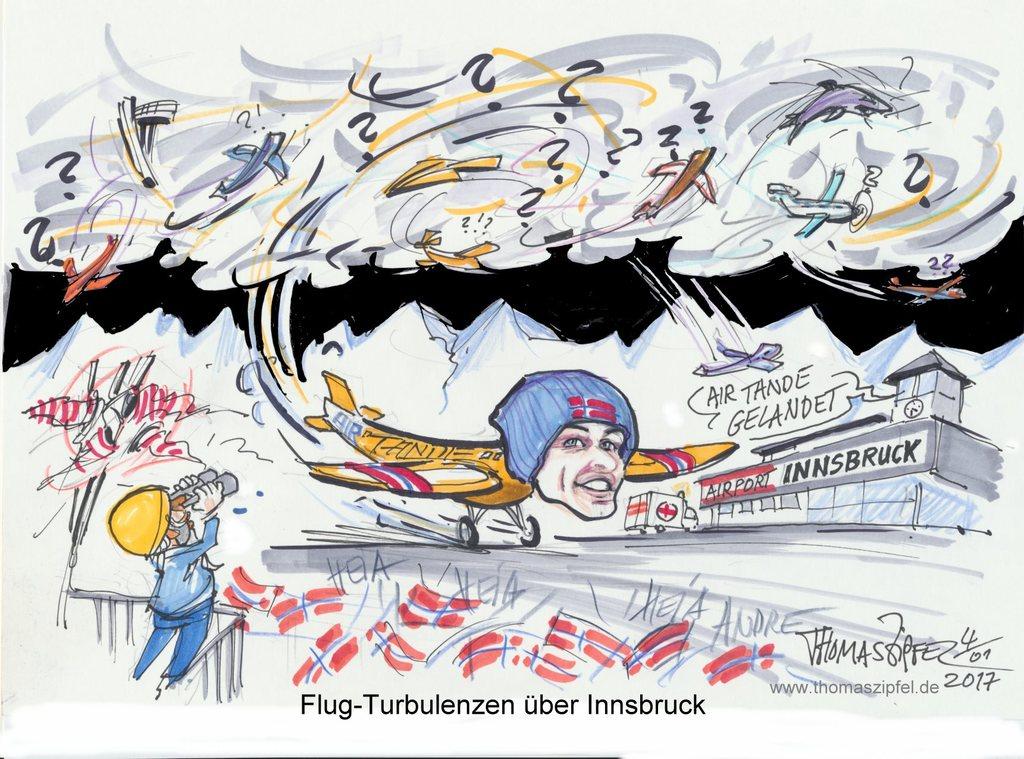 Turbulenzen am Bergisel