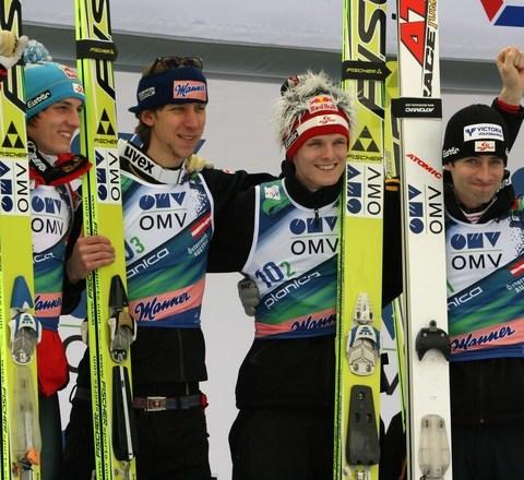 Österreich mit dem Team unschlagbar