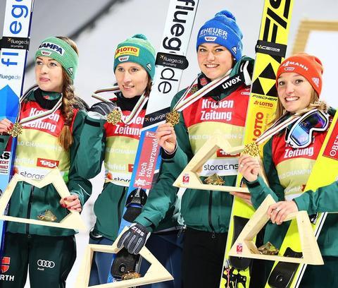 Deutschland gewinnt erstes Team-Gold der Damen