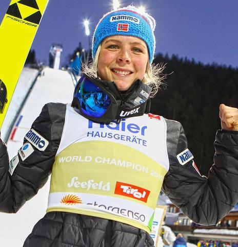 Olympiasiegerin Maren Lundby jetzt auch Weltmeisterin