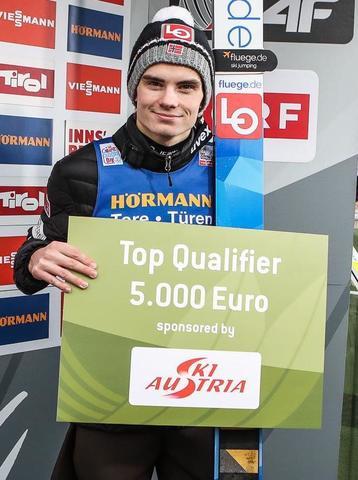 Vierschanzentournee Innsbruck: Marius Lindvik wieder top