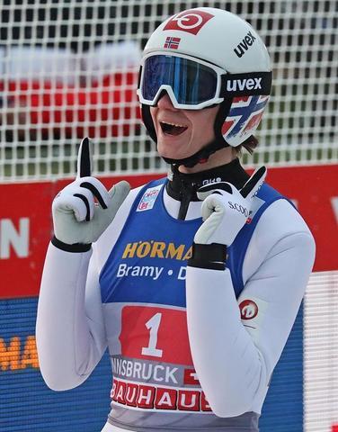 Marius Lindvik wygrywa w Innsbrucku