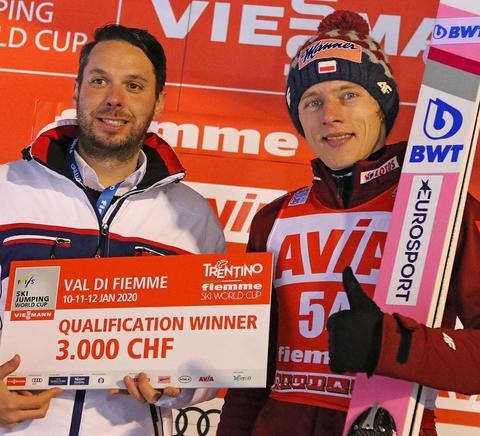 Dawid Kubacki auch in Val di Fiemme in top Form