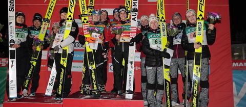 Austriaczki wygrywają konkurs drużynowy w Zao