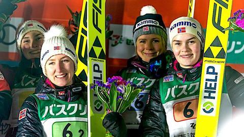 Aldri før har flere jenter hoppet på ski