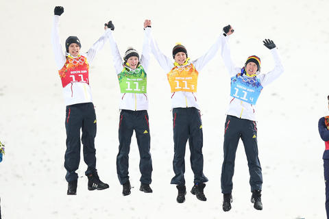 17.2.2014: Gold für die deutschen Skispringer in Sochi