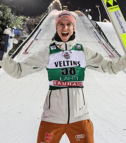Karl Geiger gewinnt den 1.000 Weltcup in Lahti