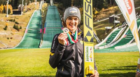 Skispringen NM: Samuel Costa und Lara Malsiner in Italien top
