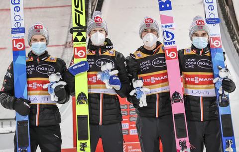 Norweger gewinnen Teamspringen in Lahti