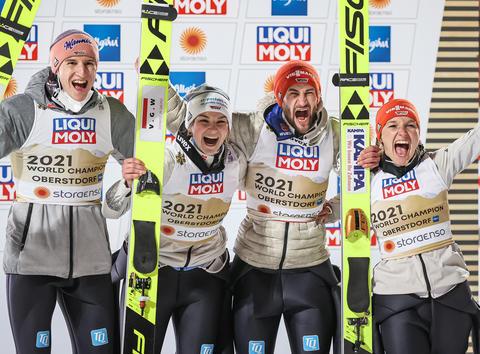 Niemcy ze złotem w konkursie mixed-team